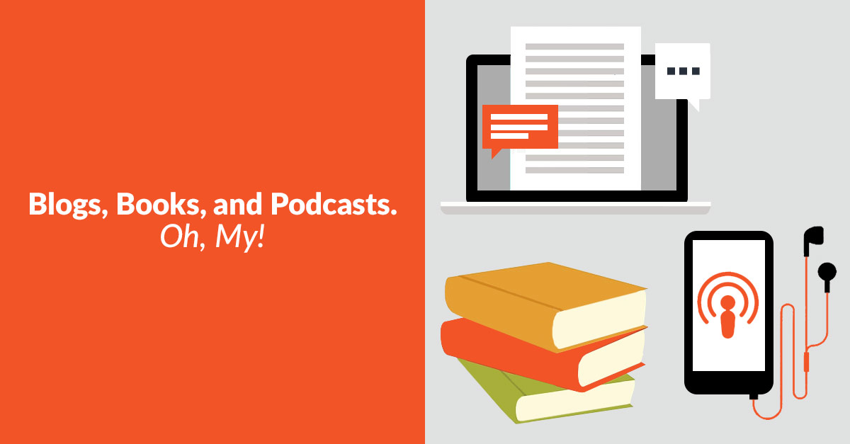 Blogs Books Podcasts Banner