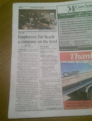 Far Reach, Employers of Choice 2014