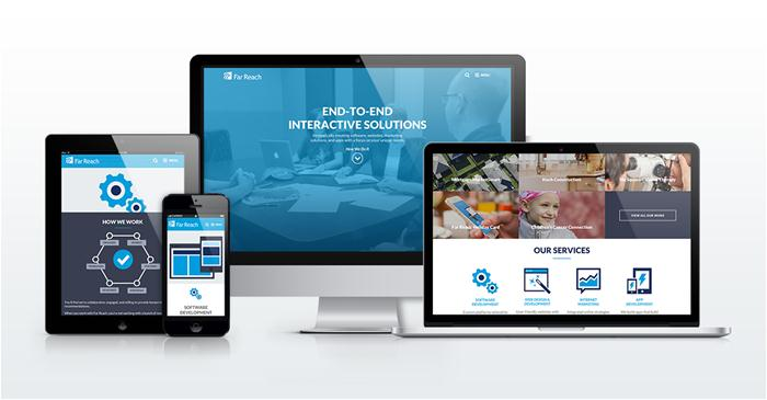 The Far Reach Website on Desktop, Tablet, and Mobile Devices