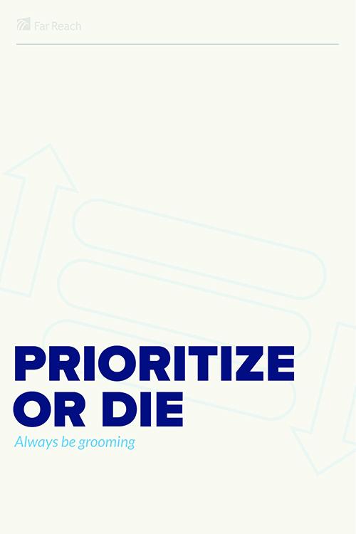 Prioritize or Die Poster