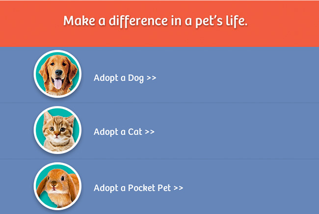 Cedar Bend Humane Society Mobile Screenshot