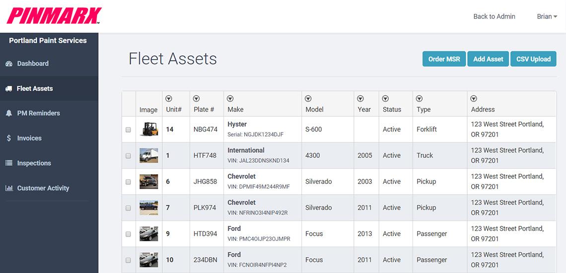 Pinmarx Assets Screen