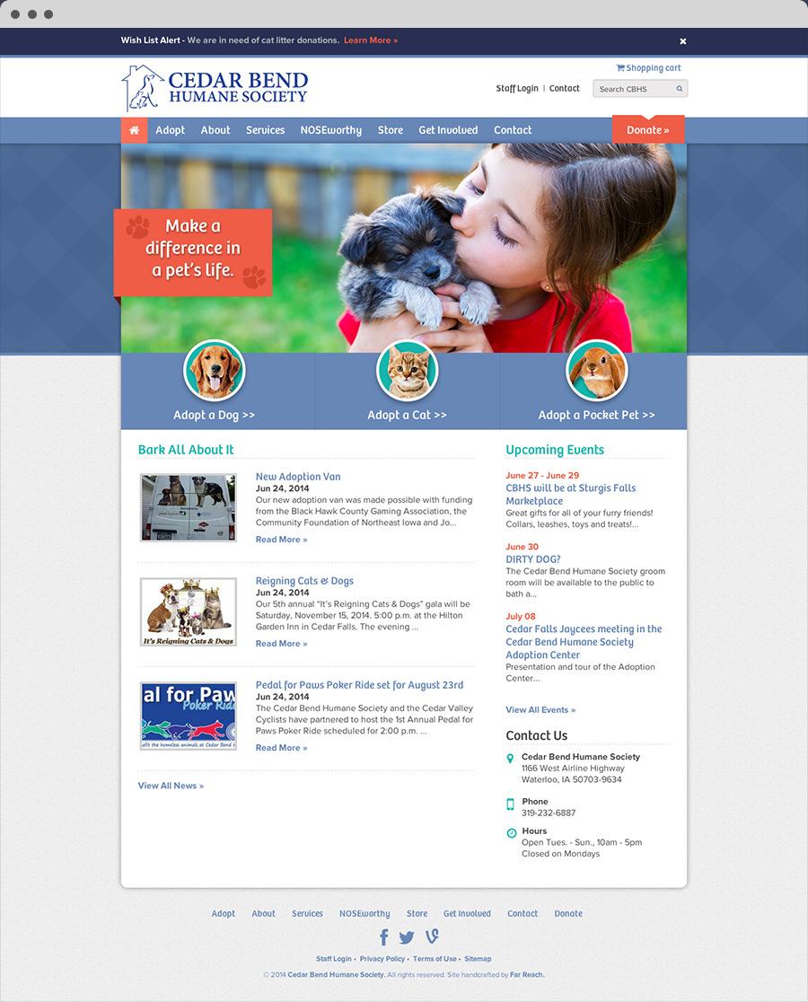 Cedar Bend Humane Society Homepage