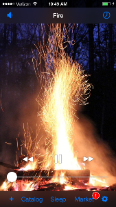 Fire Sound On White Noise App