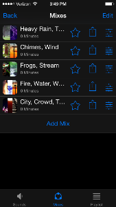 Combining Sounds on White Noise App