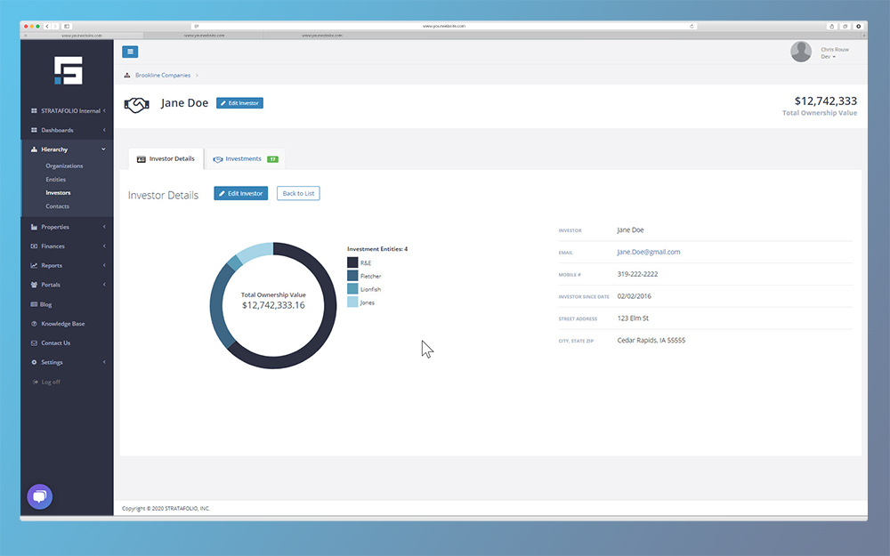 STRATAFOLIO Screen - Investor Portfolio 0