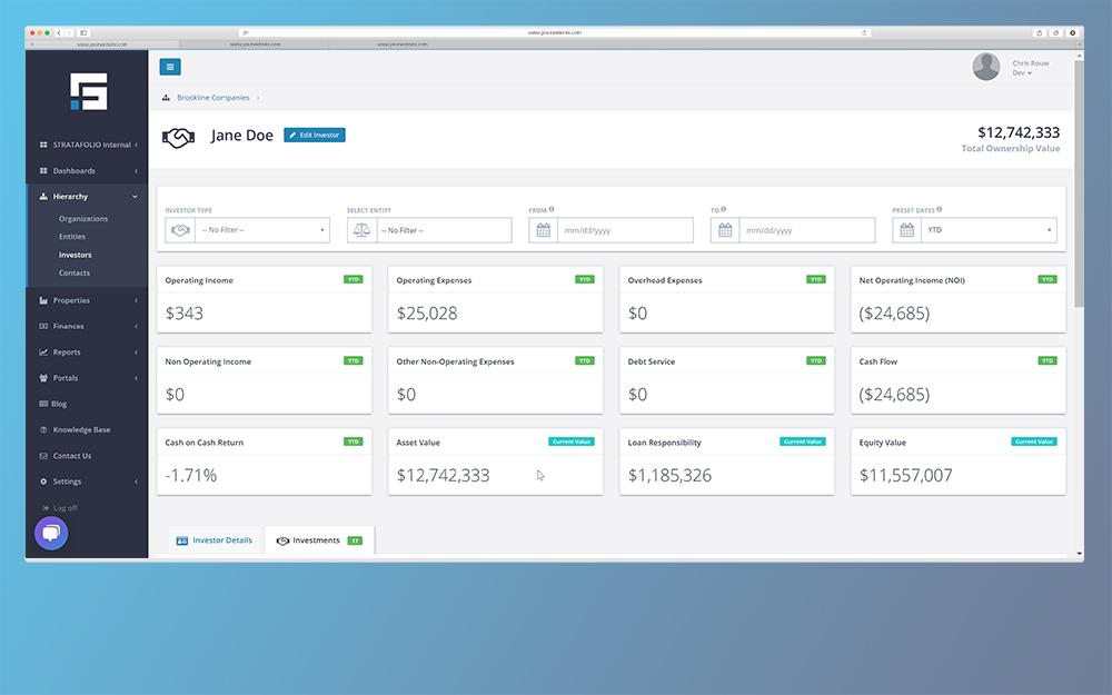 STRATAFOLIO Screen - Investor Portfolio 1