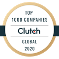 Top 1000 Companies Clutch Global 2020 Logo